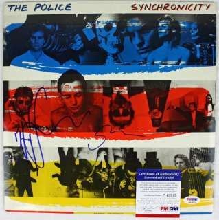 SUMMERS THE POLICE SIGNED ALBUM COVER W/ VINYL PSA/DNA #P43515