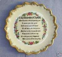 MIJ Mini Plate Grandmother Poem Mothers Day