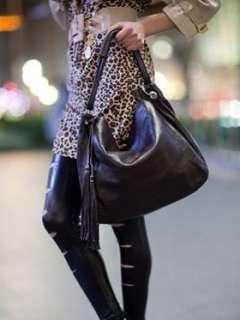 Genuine Leather Shoulder Bag Handbag Tote Satchel bk
