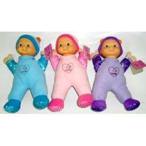 Cuddly 14 Soft Vinyl and Stuffed Body Rag Doll  3 Asst Toys & Games