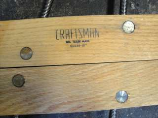 Vintage Craftsman Large Wood Screw Clamps