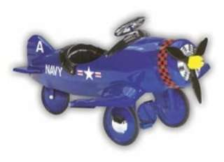 New Retro Airplane Kids Toy Pedal Car Plane   Blue