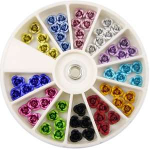 Nail Art MoYou Rose shaped Mix color Pack of Premium Quality Ceramic