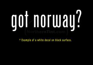 got norway? Funny wall art truck car decal sticker
