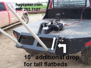 Pickup truck 12 volt hydraulic hay bale spear flatbed d