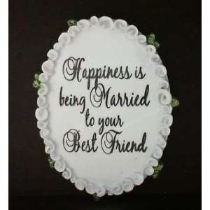 WR Oval Married Best Friend Personalized Gift Tag with