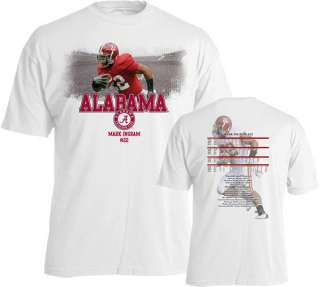 Mark Ingram #22 Level FX Player Image Alabama Crimson Tide White T
