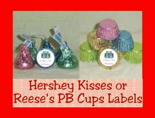 or Ballet Party Favor Candy Kiss Kisses Labels Personalized