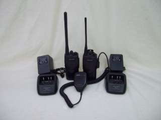 KENWOOD PROTALK TK 3200 UHF FM TRANSCEIVER RADIOS W/ CHARGERS + MIC