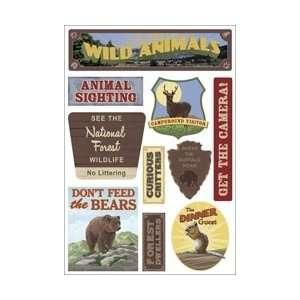 com Karen Foster Outdoors/Camping Cardstock Stickers 5.5X9 Wildlife