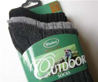 NWT*mens wool blend socks*3 PAIRS*black, dark gray, and blend*FREE US