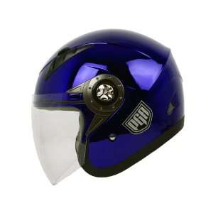 PGR Jet Pilot Open Face Motorcycle DOT APPROVED Helmet
