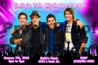 Big Time Rush Birthday Invitation