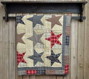 Country America Throw Stars Victorian Heart Patchwork Quilt