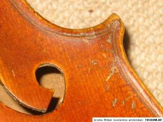 violin labeled Max Schmelz Passau 1953, but probably older violon
