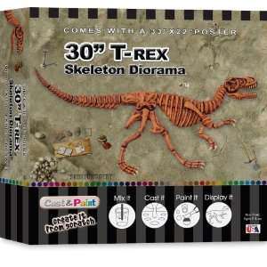 Skullduggery Cast and Paint Trex Diorama Kit Toys & Games