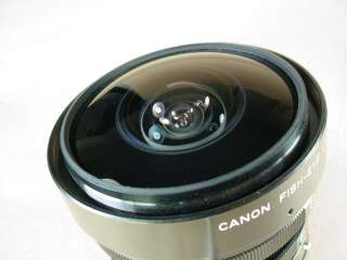CANON FISH EYE LENS FD FISHEYE CANON 7.5mm LENS 76783016996