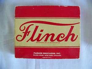 Vintage Flinch card game complete 150 cards 1938 w/promotion inserts