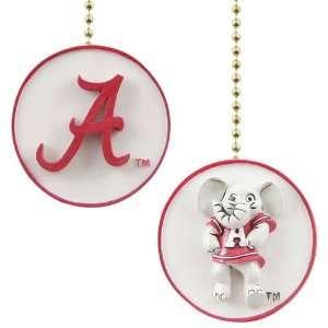 Alabama Crimson Tide White Decorative Ceiling Fan Pull Chain
