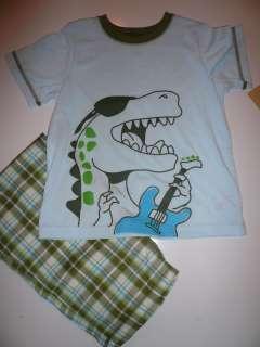 NWT~Carters Boys Pajama Set, Lt Blue/Green. Sz 6