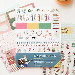 Decoration Paper Stickers Embellishments_IConic_Diary Deco Pack Ver.2