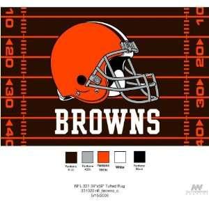 Cleveland Browns Tufted Floor Rug   NFL Football Fan Shop Sports Team