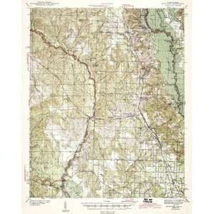 USGS TOPO MAP MUSCOGEE QUAD FLORIDA FL/AL WAR 1943 Home