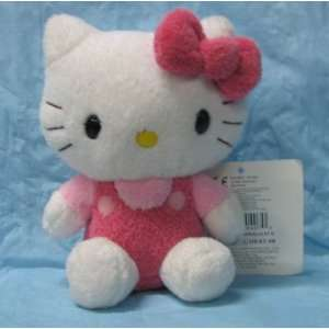 Hello Kitty in Overalls Fluffy Plush Toy Toys & Games