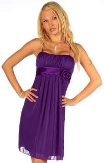 Designer Flowy Pleated Strap Evening Prom Cocktail Formal Mini Dress