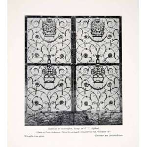 Wrought Iron Gates Sweden Swedish Arts Crafts Movement Floral Motif