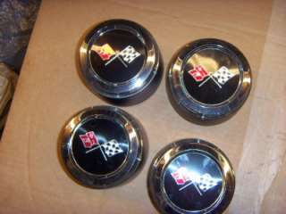 NOS 1973 1982 Corvette Wheel Center Caps 1974 1975 1976 1977 1978 1979
