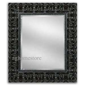 Palazzo Ornate Wood Framed Wall Mirror Antique Black