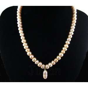 18 10mm Pink Freshwater Pearl Necklace J018 Arts