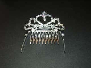 Crown Rhinestone Tiara Bridal Wedding Hair Comb Clip #3