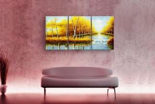 ART Hand Painted Forest tree Landscape OIL PAINTING Canvas B306
