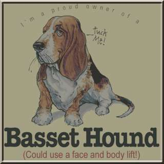 Proud Owner Of An Basset Hound Dog Breed Funny T Shirt S,M,L,XL,2X,3X
