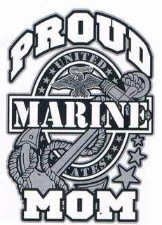 PROUD MARINE MOM Patriot US Army Military Funny T Shirt