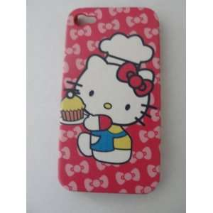 Hello Kitty Iphone 4 Hard Case Red Cell Phones