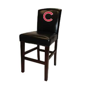 MLB Chicago Cubs Bar Stool in Black Finish with 24 Seat Height