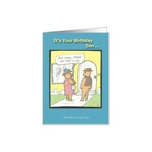 Happy Birthday Son   Humor   Cartoon Card: Toys & Games