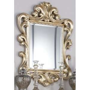 Jessica Mcclintock Couture Silver Leaf Accent Mirror