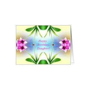 Daughter, Happy 18th Birthday!, Orchid Mirror Design Card
