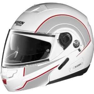 Nolan Drive N90 N Com Sports Bike Motorcycle Helmet   White/Red