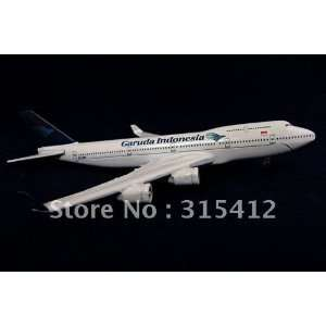 new 16cm metal scale b747 garuda indonesia plane model