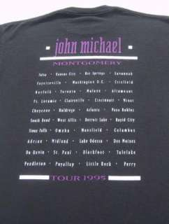 JOHN MICHAEL MONTGOMERY 1995 tour LARGE concert T SHIRT