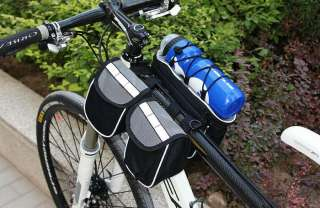 New Bike Bicycle Cycling 4 In 1 Frame Front Tube Bag With Rain Cover