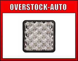 Bully Hitch Cover Large Square, Multi Reflector LED Brake Light, Clear