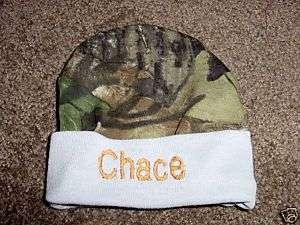 Personalized Baby Infant Newborn Hat Cap Camo Boy