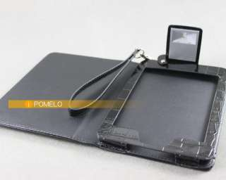 Black Leather Case Cover For Latest  Kindle Touch with Light New