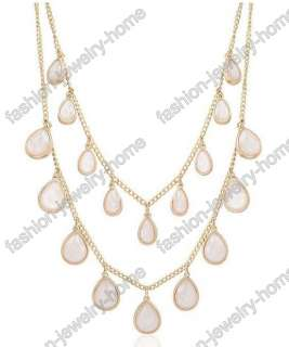 Dazzling Crystal Gold Plated Charming Drop Charm Necklace